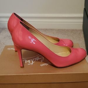 Christian Louboutin pink simple pump